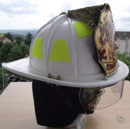 Casque de pompier US Bataillon Chief Gold Leaf 3