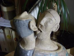 Couple enflammé-, detail