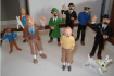 Lot de figurines Tintin