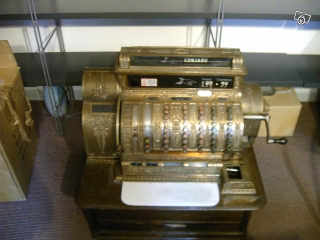 Bien connu Ancienne caisse enregistreuse en bronze de 1920 collection WD53