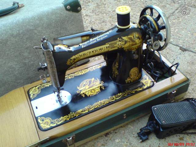 Machine a coudre ancienne singer fabrication anglaise