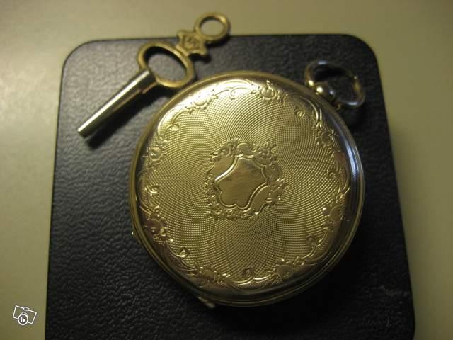 Extrêmement Ancienne montre gousset en or de 1857 collection QR92