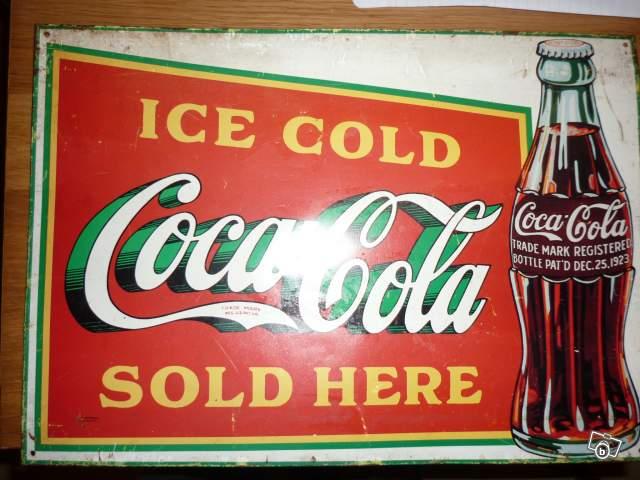 ef95917f850 Ancienne plaque publicitaire Coca Cola 1978 collection