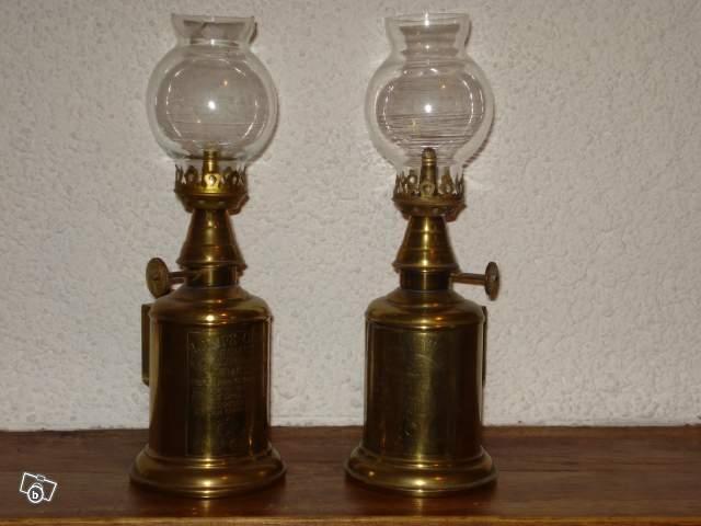 Anciennes Lampes A Petrole En Cuivre Collection