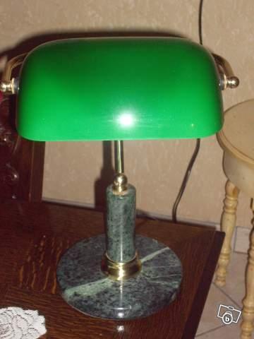 Lampe De Bureau Ancienne Verte