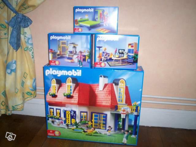 maison playmobil entirement meuble