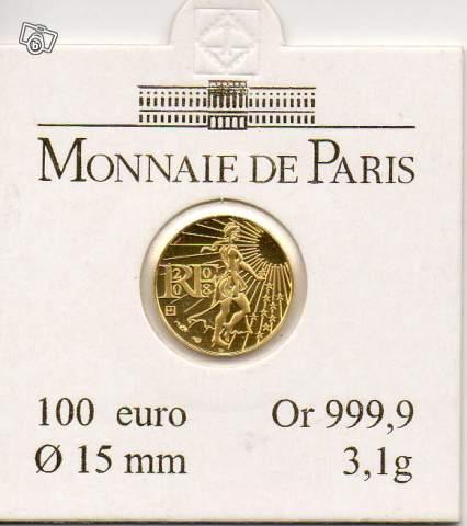 Piece De 100 Euros Or 2008 Fdc Collection