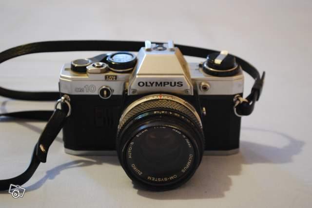 ancien appareil photo argentique olympus om10 collection. Black Bedroom Furniture Sets. Home Design Ideas