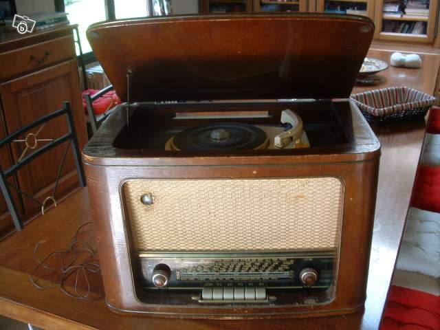 ancien poste radio tsf avec tourne disques gramont collection. Black Bedroom Furniture Sets. Home Design Ideas