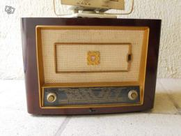 ancien poste radio avec antenne cadre photo philips collection. Black Bedroom Furniture Sets. Home Design Ideas