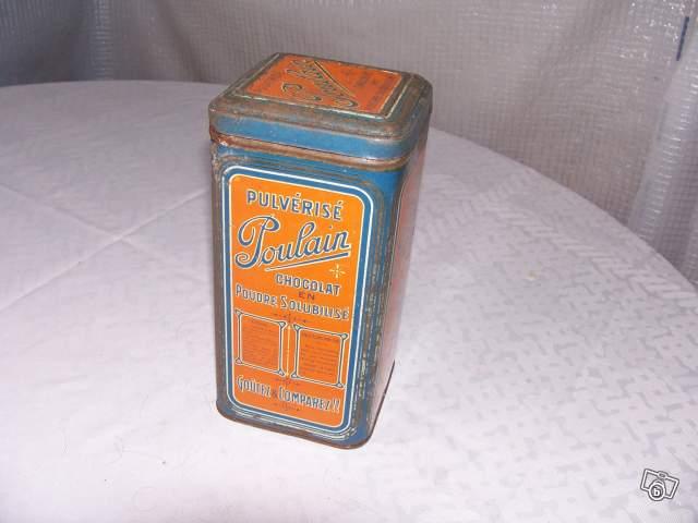 Ancienne boite en m tal poulain collection - Boite metal ancienne ...