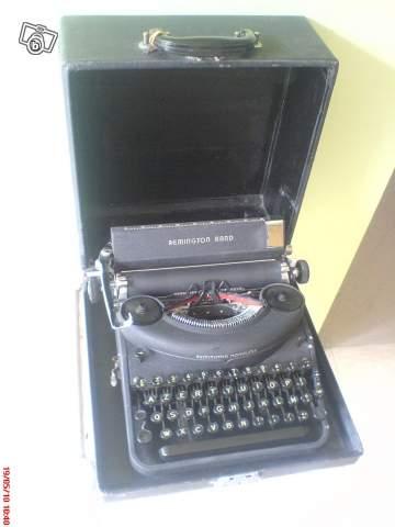 ancienne machine crire de marque remington avec boite collection. Black Bedroom Furniture Sets. Home Design Ideas