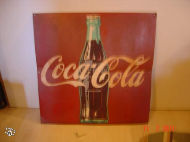 ancienne plaque coca cola collection. Black Bedroom Furniture Sets. Home Design Ideas