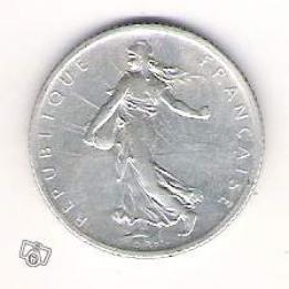 ancienne pi ce de monnaie de 1 franc semeuse de 1911 collection. Black Bedroom Furniture Sets. Home Design Ideas