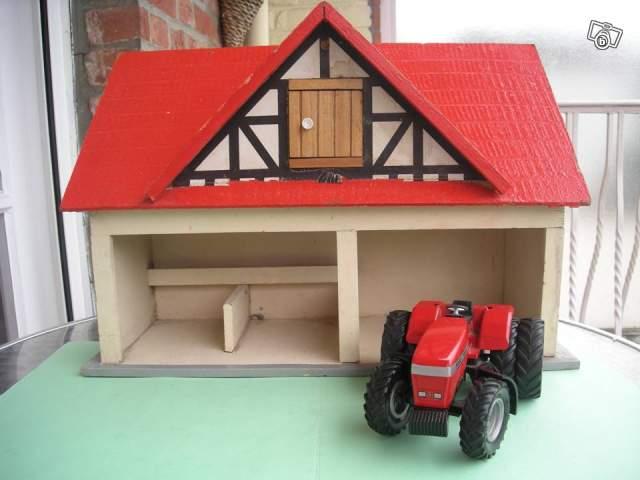 b timent de ferme en bois jouet ancien collection. Black Bedroom Furniture Sets. Home Design Ideas