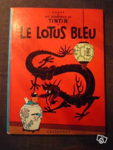 bd tintin le lotus bleu de 1946 collection. Black Bedroom Furniture Sets. Home Design Ideas