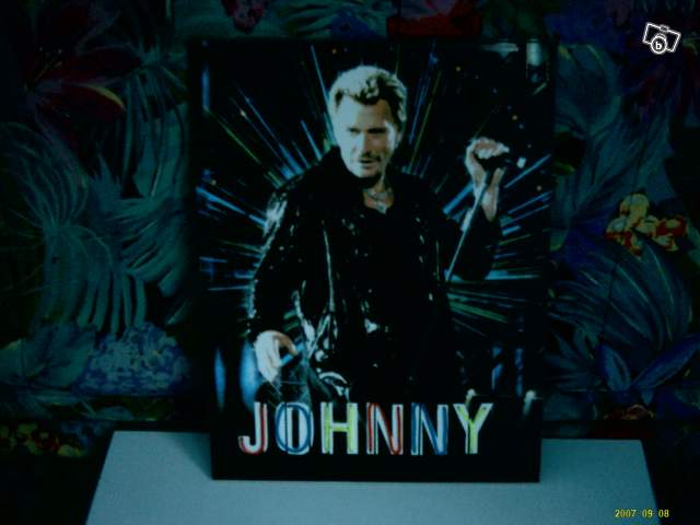 cadre lumineux johnny hallyday collection. Black Bedroom Furniture Sets. Home Design Ideas