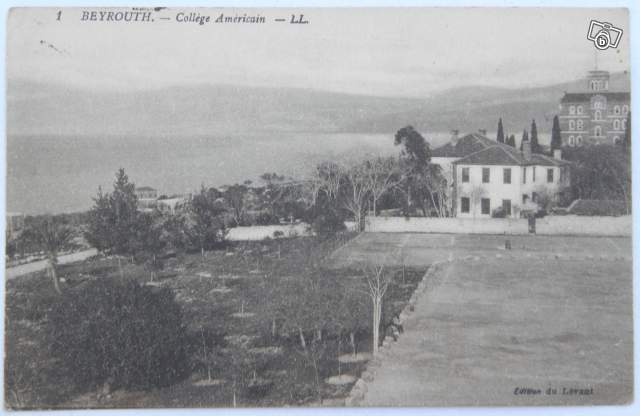 Carte postale Beyrouth collège Américain collection