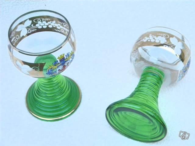 Deux verres anciens en cristal collection - Verres en cristal anciens ...