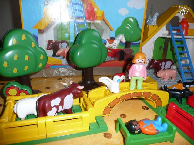 ferme et animaux playmobil 123 collection. Black Bedroom Furniture Sets. Home Design Ideas