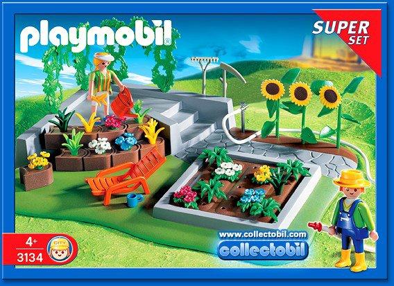 Maison de playmobil avec piscine et jardin potager collection - Piscine moderne playmobil ...