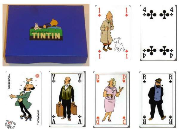 Jeu De Cartes Tintin Collection