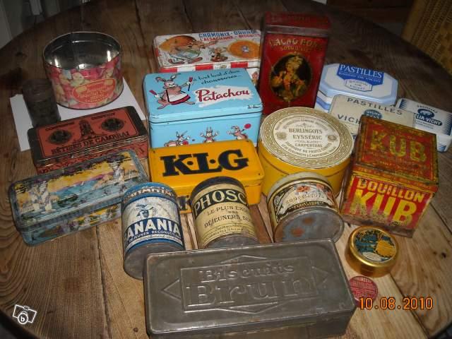 Boite en fer ancienne ustensiles de cuisine for Boite ustensile cuisine