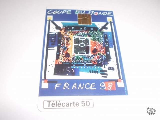 Lot de deux cartes t l phoniques coupe du monde france 98 collection - France 98 coupe du monde ...
