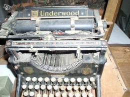 machine crire ancienne underwood ann e 1915 collection. Black Bedroom Furniture Sets. Home Design Ideas