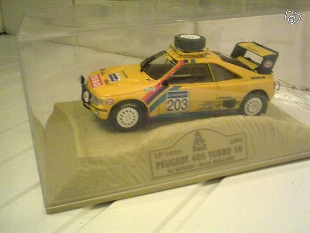miniature peugeot 405 turbo 16 paris dakar 1990 collection. Black Bedroom Furniture Sets. Home Design Ideas