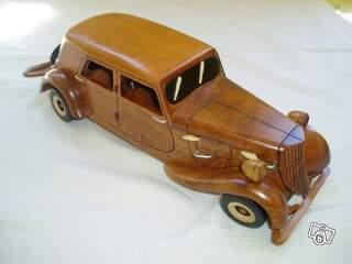 miniature de voiture traction 1938 maquette en bois collection. Black Bedroom Furniture Sets. Home Design Ideas