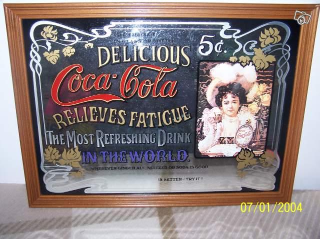 Miroir publicitaire coca cola collection for Miroir publicitaire