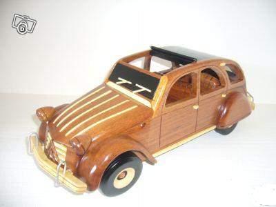 mod le r duit de voiture 2 cv maquette en bois collection. Black Bedroom Furniture Sets. Home Design Ideas