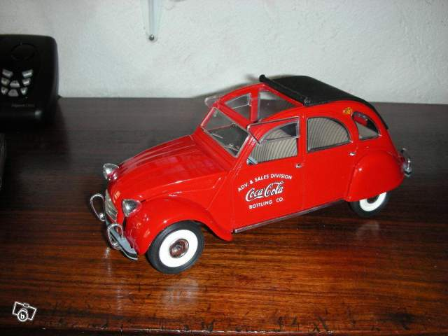mod u00e8le r u00e9duit citro u00ebn 2cv coca cola collection