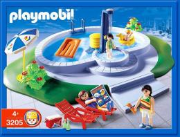 Maison de playmobil avec piscine et jardin potager collection for Piscine maison moderne playmobil