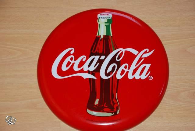 plaque ronde coca cola collection. Black Bedroom Furniture Sets. Home Design Ideas