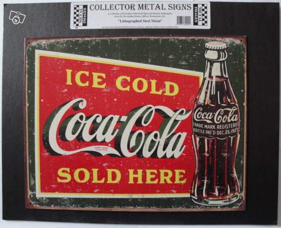 plaque vintage coca cola usa collection. Black Bedroom Furniture Sets. Home Design Ideas
