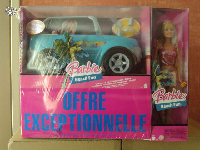 poup e barbie beach fun et sa voiture collection. Black Bedroom Furniture Sets. Home Design Ideas