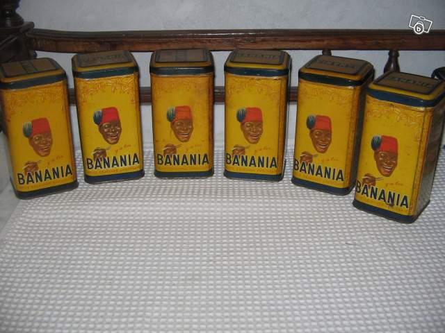 s rie d 39 anciennes boites banania ann es 1950 collection. Black Bedroom Furniture Sets. Home Design Ideas