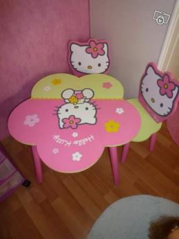 Table Et Chaise Hello Kitty Collection