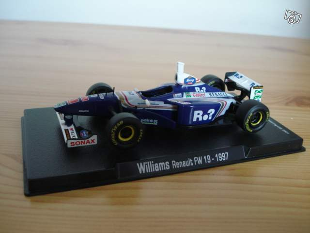 miniature de formule 1 williams renault fw19 de jacques. Black Bedroom Furniture Sets. Home Design Ideas