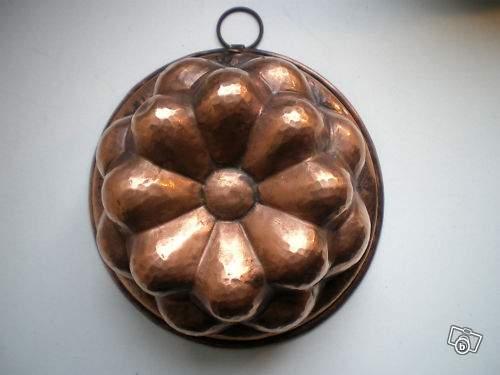 Moule a gateau ancien en cuivre ustensiles de cuisine for Ustensiles de cuisine en cuivre
