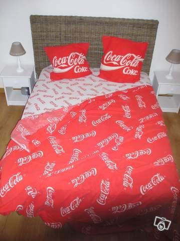 parure de lit coca cola collection. Black Bedroom Furniture Sets. Home Design Ideas